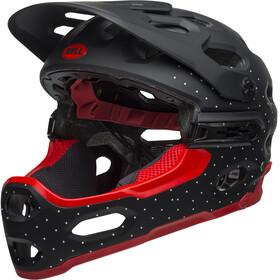 Bell Super 3R MIPS Kask rowerowy, virago matte black/white/crimson